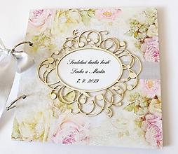 Papiernictvo - svadobná kniha hostí - 11306180_
