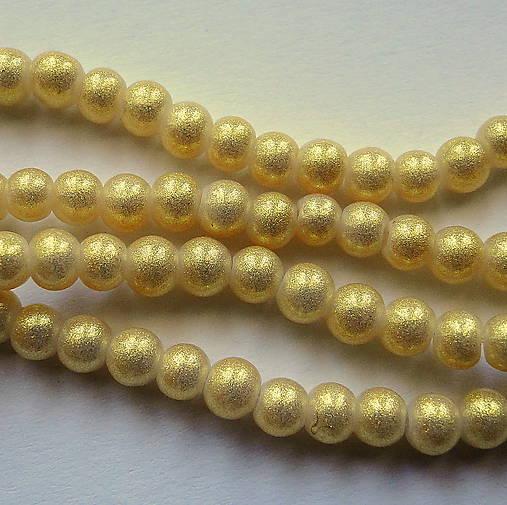 Gold Powder Metallic 4mm-30ks (zlatá svetlá)