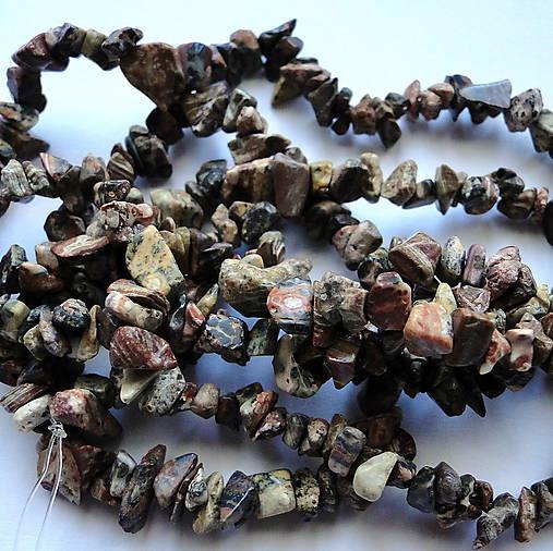 Minerály-zlomky-návlek (Jaspis leopard-cca 84cm)