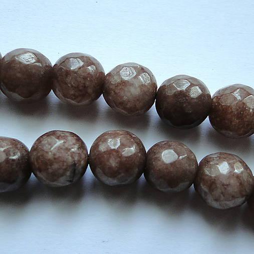 Jadeit fazet 10mm-1ks (smoky)