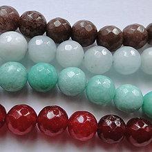 Minerály - Jadeit fazet 10mm-1ks - 11310547_