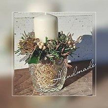 Svietidlá a sviečky - vianočná dekorácia - 11309392_