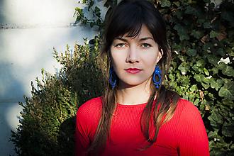 Náušnice - Tmavomodrá Bettina - Ručne šité šujtášové náušnice - Soutache earrings - 11306597_