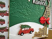 Papiernictvo - Veselé Vianoce auto pohľadnica - 11305504_