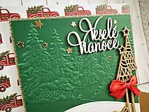 Papiernictvo - Veselé Vianoce auto pohľadnica - 11305505_