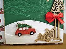 Papiernictvo - Veselé Vianoce auto pohľadnica - 11305506_