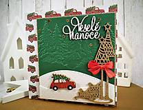 Papiernictvo - Veselé Vianoce auto pohľadnica - 11305507_