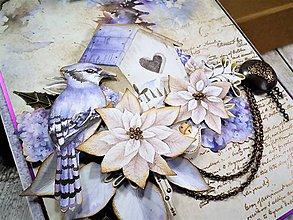 Papiernictvo - Veselé Vianoce vtáčik pohľadnica - 11305532_