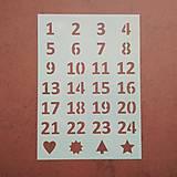 Pomôcky/Nástroje - Adventné čísla šablóna - 11306612_