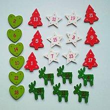 Polotovary - Adventný kalendár čísla - 11307145_