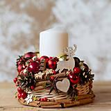 Dekorácie - Vianočný svietnik - 11308675_
