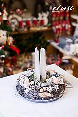 Dekorácie - Vianoce - svietnik - prírodný - 11309153_