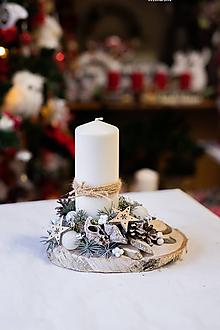 Dekorácie - Vianoce - svietnik - prírodný - 11309882_