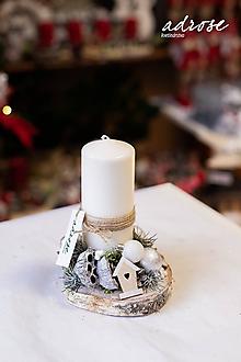 Dekorácie - Vianoce - svietnik - prírodný menší - 11309910_