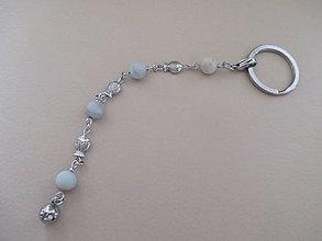 Kľúčenky - Kľúčenka - tri rybičky - minerál - amazonit/matný - 11309830_