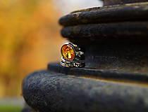 """Prstene - Nerezový prsten... """" Golden rain """" - 11308255_"""