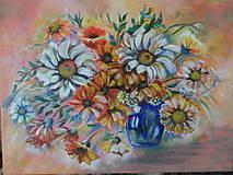Obrazy - Kvety na stole - 11307991_