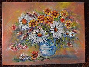 Obrazy - Kvety vo váze - 11308008_