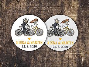 Darčeky pre svadobčanov - Magnetka - Cyklisti - 11309521_