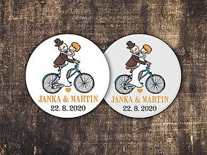 Darčeky pre svadobčanov - Magnetka - Cyklisti 2 - 11309528_