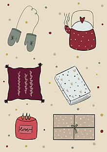 """Grafika - Ilustrácia """" Zimné Radosti """" - 11307270_"""
