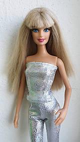 Hračky - Diamant strieborný korzet pre Barbie - 11309530_