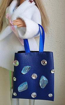 Hračky - Modrá koženková kabelka pre Barbie I. - 11309564_