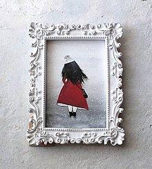 Dekorácie - ...žena v červenom kabáte - 11305837_