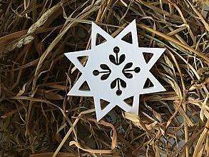 Dekorácie - Hviezda - ozdoba na vianočný stromček - 11308529_