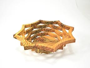 Nádoby - Drevená miska 21cm špaltovaná jelša - 11305489_