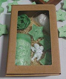Svietidlá a sviečky - Darčková sada zelená veľká - 11305454_