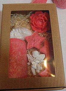 Svietidlá a sviečky - Darčková sada ružová veľká - 11305460_