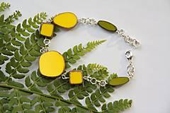 Náramky - Žlto zelený náramok - 11309779_