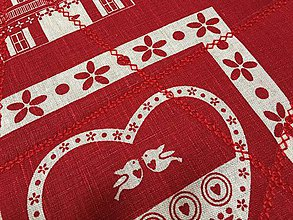 Úžitkový textil - prestierky vianoce s jeleňom - 11306292_