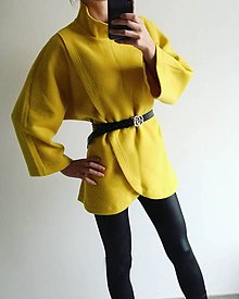Kabáty - Asymetrický kabátik - 11306344_