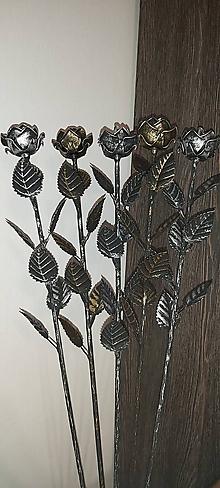 Dekorácie - Kovová ruža - 11309044_