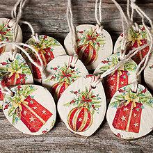 Dekorácie - Recy vianočné ozdoby - priemer 4 cm - 11305656_