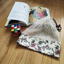 Úžitkový textil - Zero waste Aj aj vrecúško  (Kvietky) - 11305637_