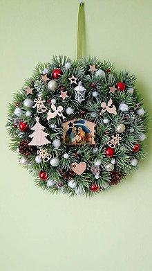 Dekorácie - Vianocny veniec Betlehem - 11307060_