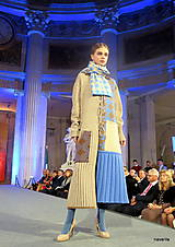 Kabáty - VITKA-pletený kabát-vícebarevný - 11309632_