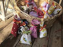 Darčeky pre svadobčanov - Levanduľove vrecúška - 11306050_