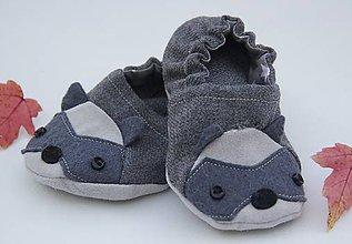 Topánočky - Detské papučky/capačky - Medvedík čistotný - 11305300_