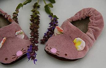 Topánočky - Detské papučky/capačky - Myška - 11305316_