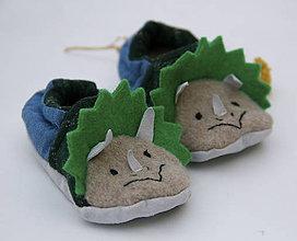 Topánočky - Detské papučky/capačky - Dinosaurus - 11305329_