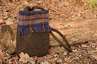 Kabelky - plstená kabelka - kockovaná 1 - 11310326_