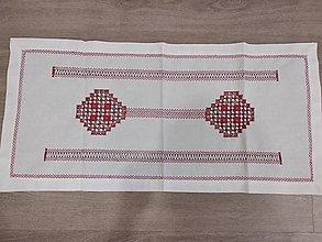 Úžitkový textil - Vyšívaný obrus - 11306569_