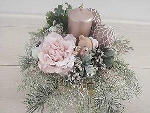 Dekorácie - Vianočná dekorácia s medvedíkom - 11310014_