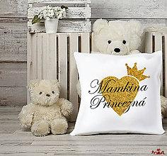 Úžitkový textil - Vankúš pre mamkinu princeznú / mamkinho princa - 11307732_