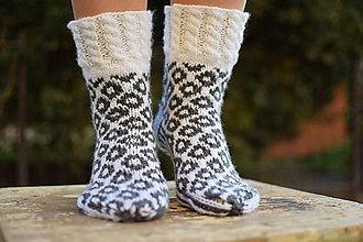 Obuv - ponožky s nórskym vzorom (v.38-39) - 11305783_