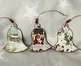 Dekorácie - vianočné zvončeky - 11305886_